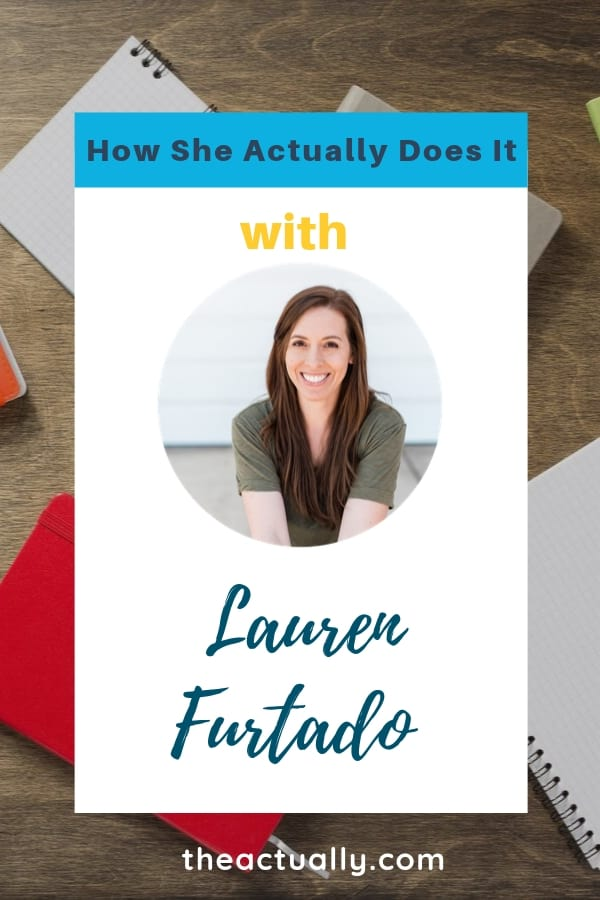How she actually does it with Lauren Furtado.